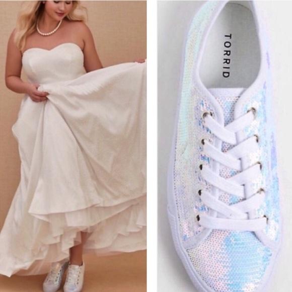 torrid Shoes   White Iridescence Sequin